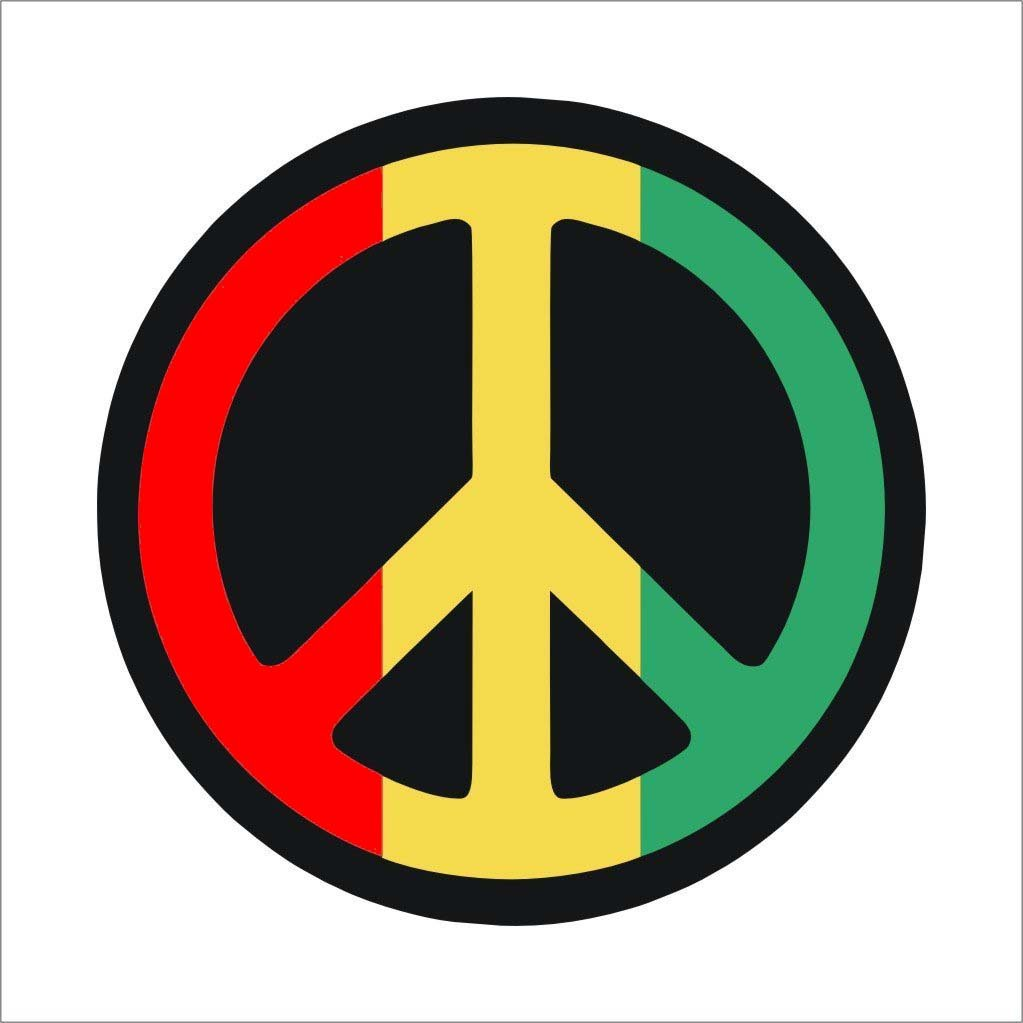 Isee 360 peace sticker for cars and bikes red yellow green medium amazon in car motorbike