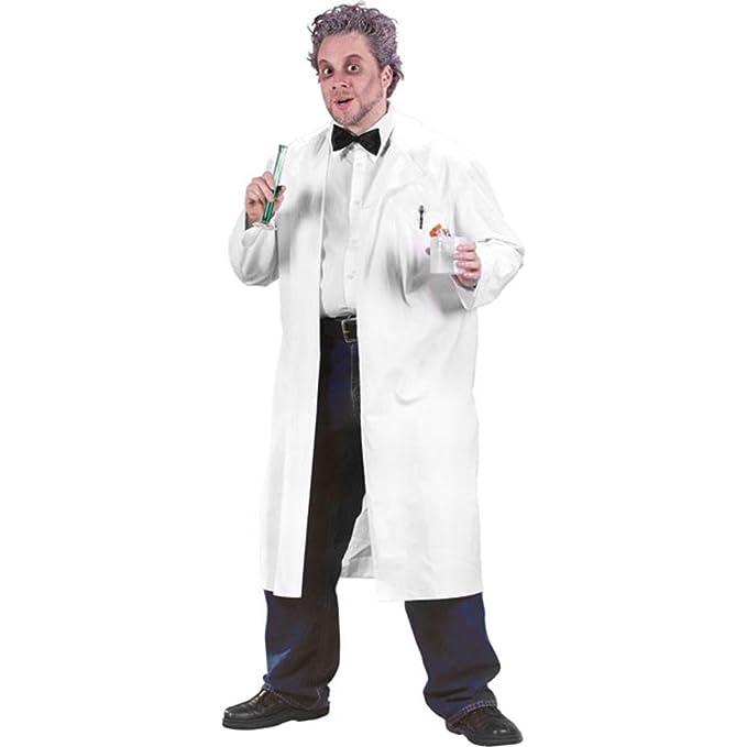 Amazon Com Adult Professor White Lab Coat Halloween Costume