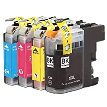 Aimple Replacement For Brother LC207XXL LC205XXL LC207 LC205 XXL Super High Yield Ink Cartridge Set (1 Black,1 Cyan,1 Magenta,1 Yellow)