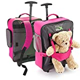Cabin Max Bear Childrens Luggage Carry on Trolley Suitcase (Pink)