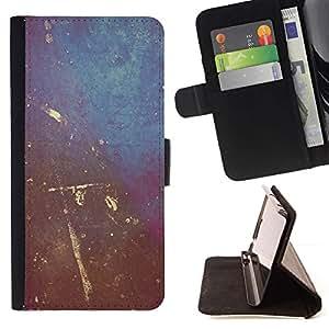 Momo Phone Case / Flip Funda de Cuero Case Cover - Arte de la pintura de pared Rayado Dise?o de Interiores Shabby - Samsung Galaxy S6 EDGE