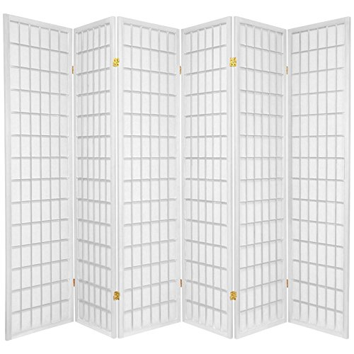 Amazon.com: Oriental Furniture 6 ft. Tall Window Pane Shoji Screen - White - 4 Panels: Kitchen & Dining