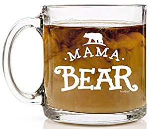 Shop4Ever Mama Bear Novelty Glass Coffee Mug Tea Cup Gift ~ Mother's Day ~
