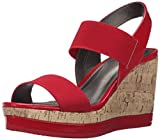 LifeStride Women's Ellusive Flat Sandal, Red, 6.5 M US