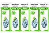 Grabbit Correction Tape, 5mm x 8.5m, Sliding Cover, White, Pack of 5.