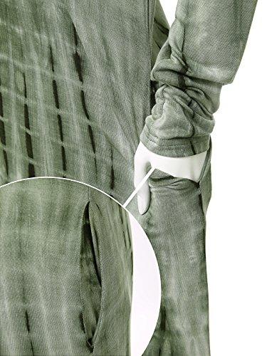 Tasca Dye Jwdl449q7 Manicotto Dell'annata Spaccato olive Tie Misura Jay Vestito Con Allentato Lungo Donne Lungo Maxi ZwqOCxva