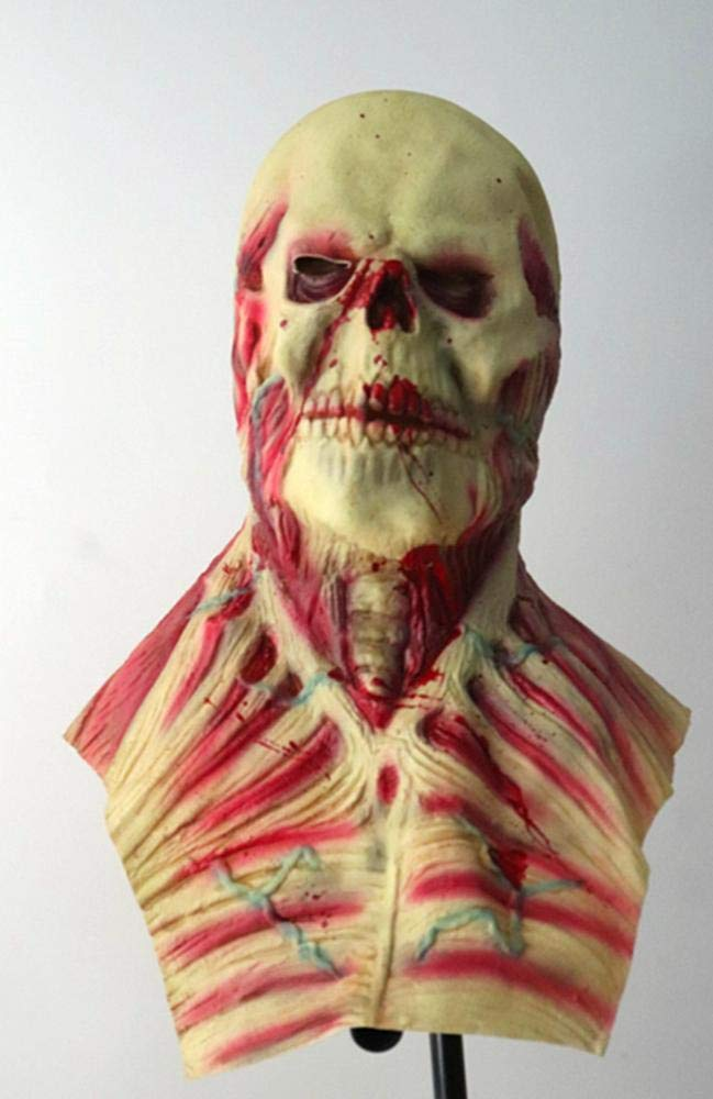 Littlefairy Máscara Halloween,Cadáver de Extranjero Peluca Cuerpo de Horror Halloween Máscara de Demonio Zombi