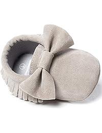 Infant Baby Girls and Boys Premium Soft Sole Moccasins Tassels Prewalker Anti-Slip Toddler Shoes