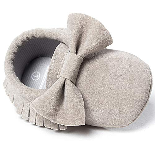 8071c8324c3eb LIVEBOX Infant Baby Girls and Boys Premium Soft Sole Moccasins Tassels  Prewalker Anti-Slip Toddler