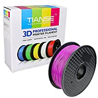 TIANSE Purple PLA 3D Printer Filament 1.75mm 1KG Spool Filament for 3D Printing, Dimensional Accuracy +/- 0.03 mm by TIANSE