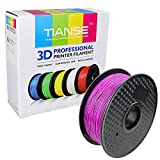 TIANSE Purple PLA 3D Printer Filament 1.75mm 1KG Spool Filament for 3D Printing, Dimensional Accuracy +/- 0.03 mm