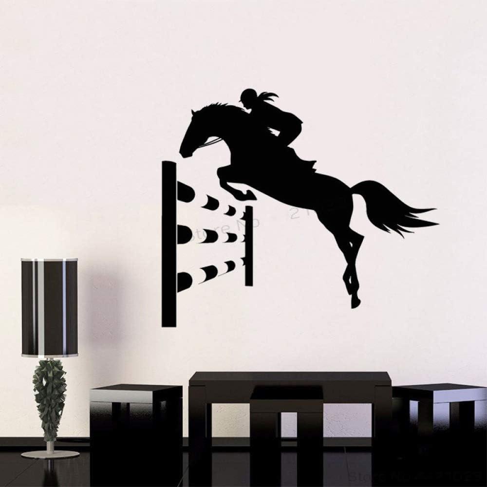 xingbuxin Tatuajes de Pared Horse Rider Girl Vinilo Adhesivos de ...