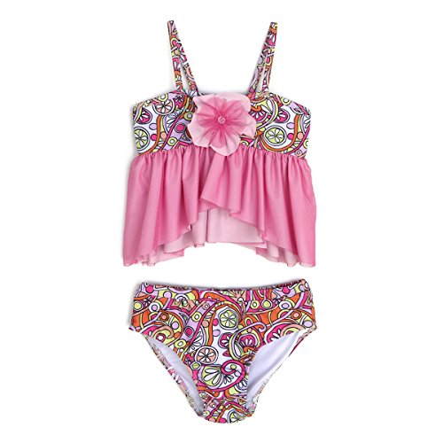 Apple Blossom by Isobella and Chloe Baby & Girl Tankini 2 Piece Swimsuit, 18M Pink