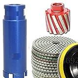 4 1 2 grinder pad - 2-Inch Zero Tolerance Diamond Drum Wheel/Profiler 2 Inch Diamond Core Drill Bit 4