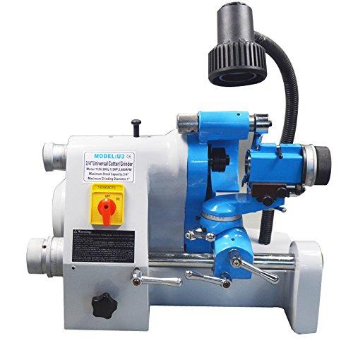 U3 110V R8 Universal Multi-functional Cutter Grinder Sharpener End Mill Drill Bit Lathe ()
