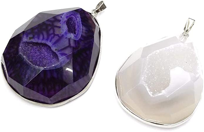Details about  /PURPLE ONYX DRUZY AGATE GEODE CABOCHON LOOSE NATURAL GEMSTONE FREE SHIPPING OD#8