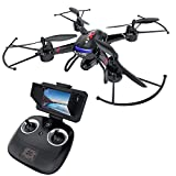 Holy Stone F181G FPV RC Drone with HD Camera 720P FOV 120° Live Video with LCD Screen for Adults Kids Beginners 5.8G Image Transmission Quadcopter RTF Toys with Altitude Hold Emergency Stop One Key Take-Off Modular Battery