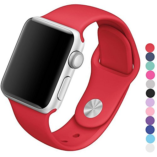 Silicone Watchband Replacement for Apple Watch 42mm (Red) - 9