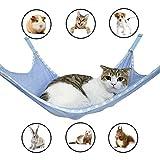 Winnsty Cat Hammock Summer Breathable Mesh Pet Hammock Bed, Under Chair Hammock Cradle Crib for Small Animals (Large)