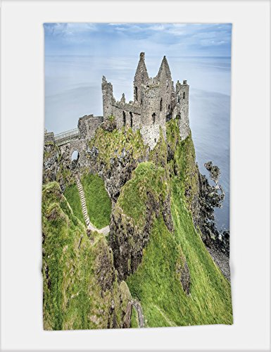 Minicoso Bath Towel near portrush northern ireland the ruin of dunluce castle with coast and ocean in the background 402363691 For Spa Beach Pool Bath