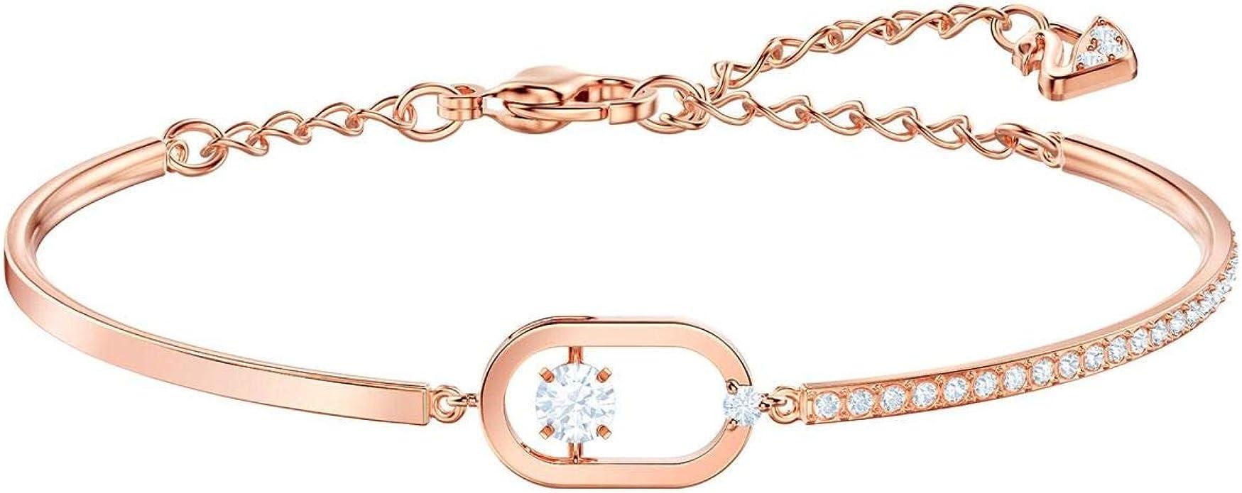 Swarovski North Bracelet, White, Rose Gold Plating