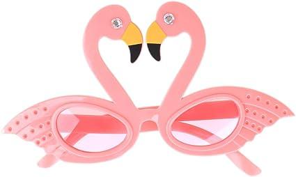 Flamingo Hawaiian Tropical Sunglasses Glasses Summer Fancy Dress Party Costume