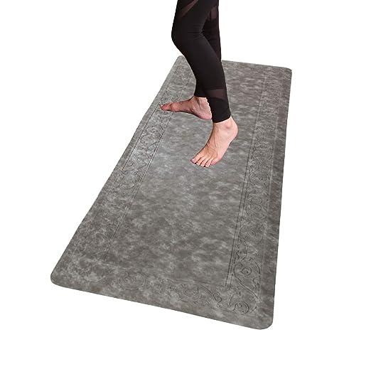 HEBE Extra Long Anti Fatigue Comfort Mats for Kitchen Floor Standing Desk  Thick Cushioned Kitchen Floor Mats Runner Waterproof Stain Resistant  Kitchen ...