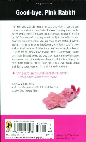 character anna when hitler stole pink The big war: when hitler stole pink rabbit by judith kerr in kerr's fictionalized memoir, her main character anna lives in a well-to-do, cosmopolitan, and non-observant jewish family.