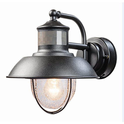 Secure Home Nautical 9.4-in H Matte Black Motion Activated Outdoor Wall Light by Secure Home
