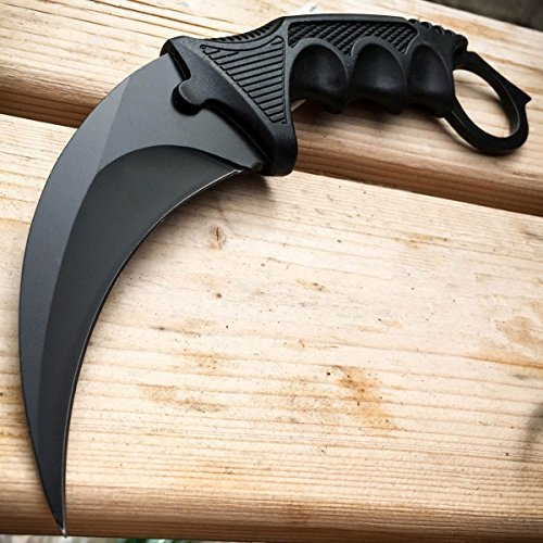 TACTICAL COMBAT KARAMBIT NECK KNIFE G'Store Survival Hunting BOWIE Fixed Blade w/ SHEATH (Best Karambit Neck Knife)