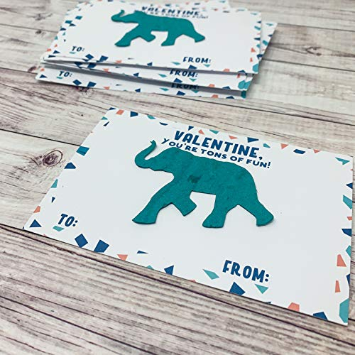 Valentines Day Card Kit for Kids - Elephant Seed Paper Shapes - Love You Tons