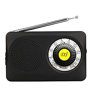 DreamSky Small Portable AM/FM Radios , LoudSpeaker And Earphone Jack , Clear Sound, Battery Operated Pocket Radios Player For Bedroom/ Walking/Hiking, Emergency Radio .