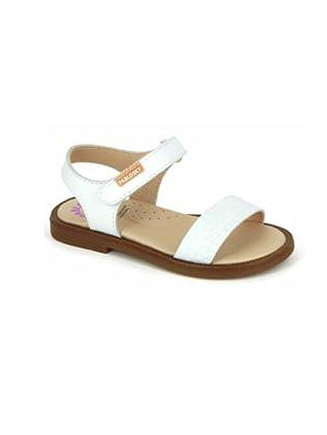 Pablosky sandalo tipo fratino in pelle con chiusura velcro BIANCO, 36 MainApps