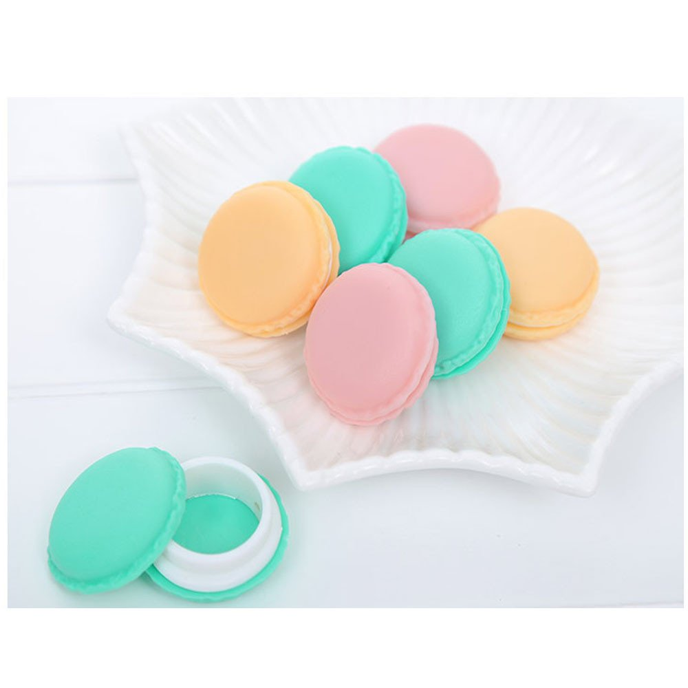 Tuscom Hot 1 Pcs Cute Macaron Modeling Small Storage Box,for Mini Earphone Earrings,Rings,Beads Pills Carrying Pouch,4 x 2cm Mini Storage Box (Random)