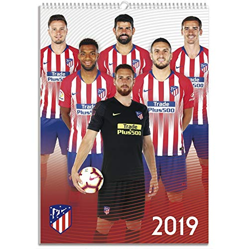 Atletico de Madrid Monthly Wall Calendar 2019 (January 2019 - December 2019) - Academic Year Hanging Wall Organizer - A3 (12
