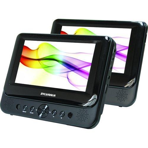"""Sylvania SDVD8706 7"""" Dual Screen Portable DVD Player"""