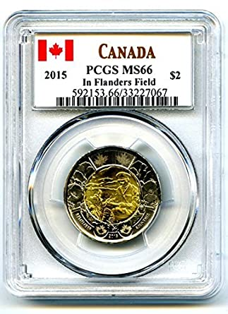 2015 REMEMBRANCE DAY CARD WITH 3 MINT COINS FLANDERS COLOR POPPY
