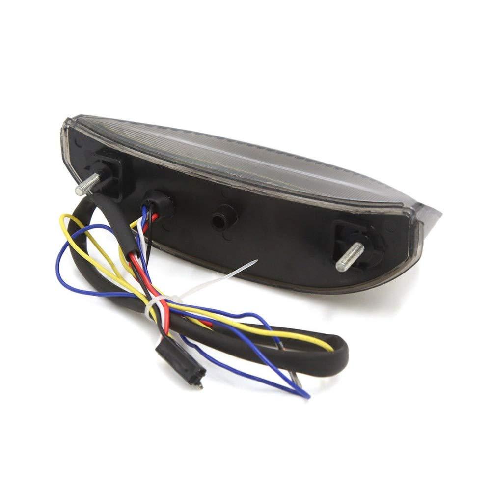 WildBee Motorrad Ger/äucherte Linse Bremslicht Einschalten LED R/ücklicht Kompatibel mit CBR 600RR 2003-2006 CBR 1000RR 2004-2007