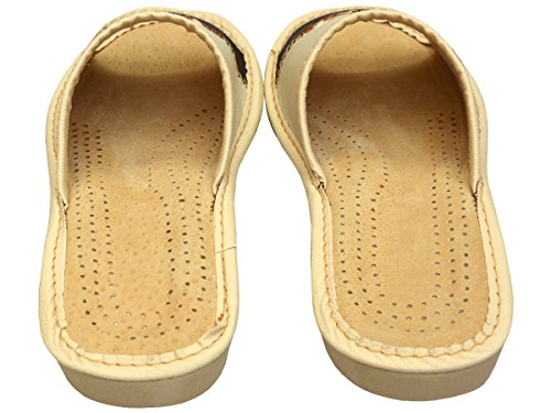 Cuir Naturel Chaussons 35 BeComfy Chaussons Marron Pantoufles Di32 Taille Confort 41 qtItE