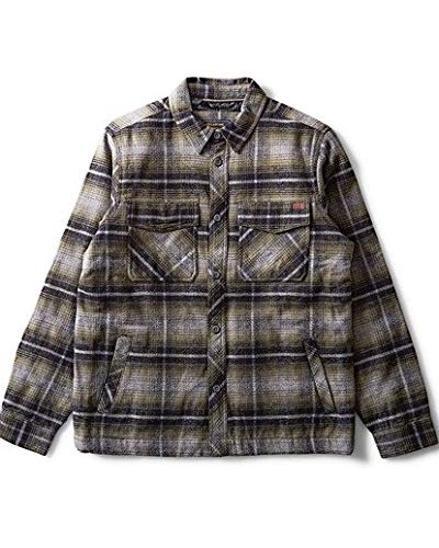 Billabong Men's Barlow Plaid Jacket Military Medium
