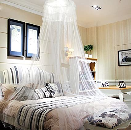 HIG mosquito net Bed Canopy - Lace Dome Netting Bedding & Amazon.com: HIG mosquito net Bed Canopy - Lace Dome Netting ...