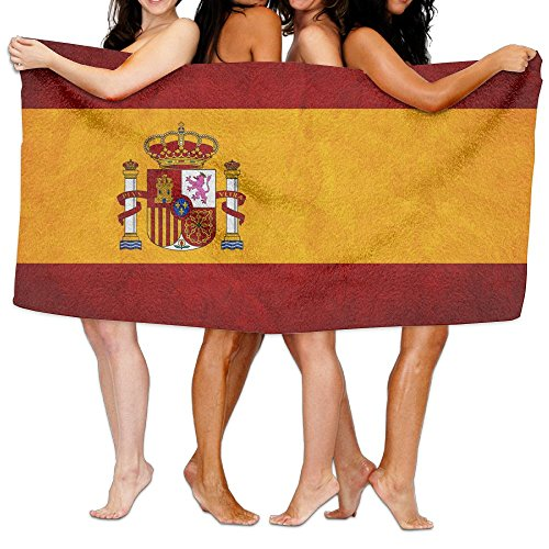 Spain Flag Bath Towels Bath Sheet, Beach Hand Turkish Towel, Large Absorbent Washcloths Blanket Towel Set For Home & Spa Collection Use (31.551.2inches) by JIEOTMYQ
