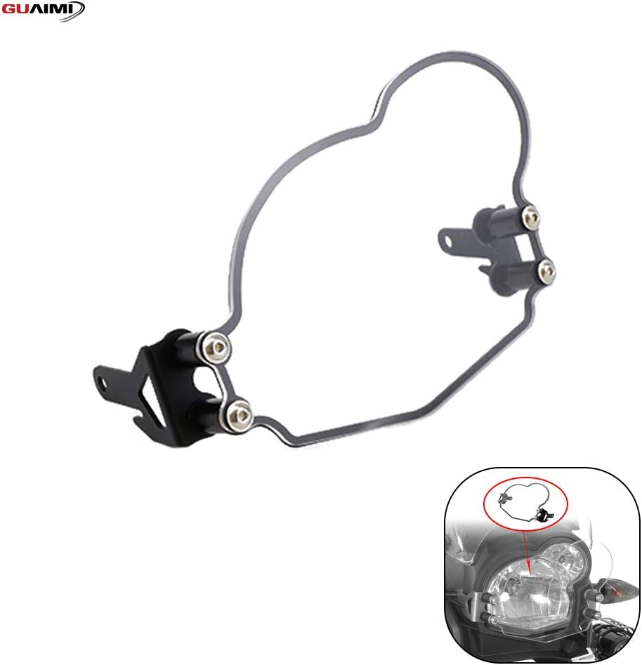 GUAIMI Quick Release Clear Headlight Guard Headlight Cover for BMW G650GS Sertao 2011-on