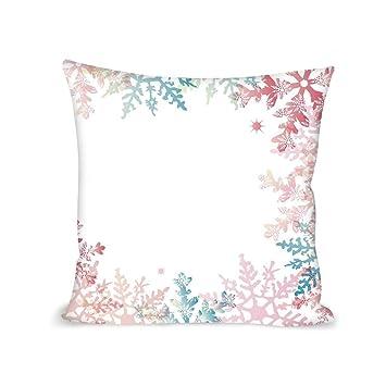 Amazon.com: MOOCOM Winter Comfortable Pillow,Abstract Winter ...