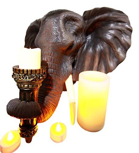 Atlantic Collectibles African Bush Elephant Figurine 15.25