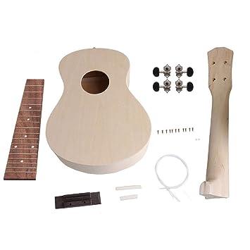 "Yibuy - Ukelele de 23"", 4 cuerdas, para manualidades, de madera,"
