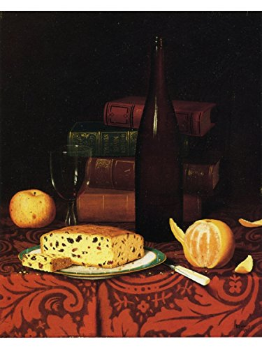 Still Life with Raisin Cake, Fruit and Wine by William Michael Harnett (Life Harnett William Still)