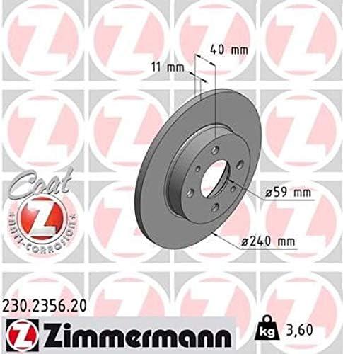 Zimmermann Bremsbel/äge Bremsbelagsatz Kl/ötze vorne Vorderachse Zimmermann Bremsscheiben Scheibenbremse /Ø240mm