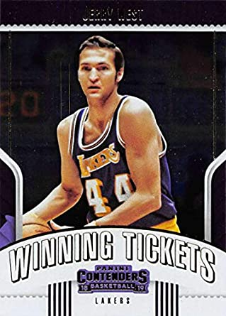 6f5e80d3906 2018-19 Panini Contenders Winning Tickets Basketball  4 Jerry West Los  Angeles Lakers Official