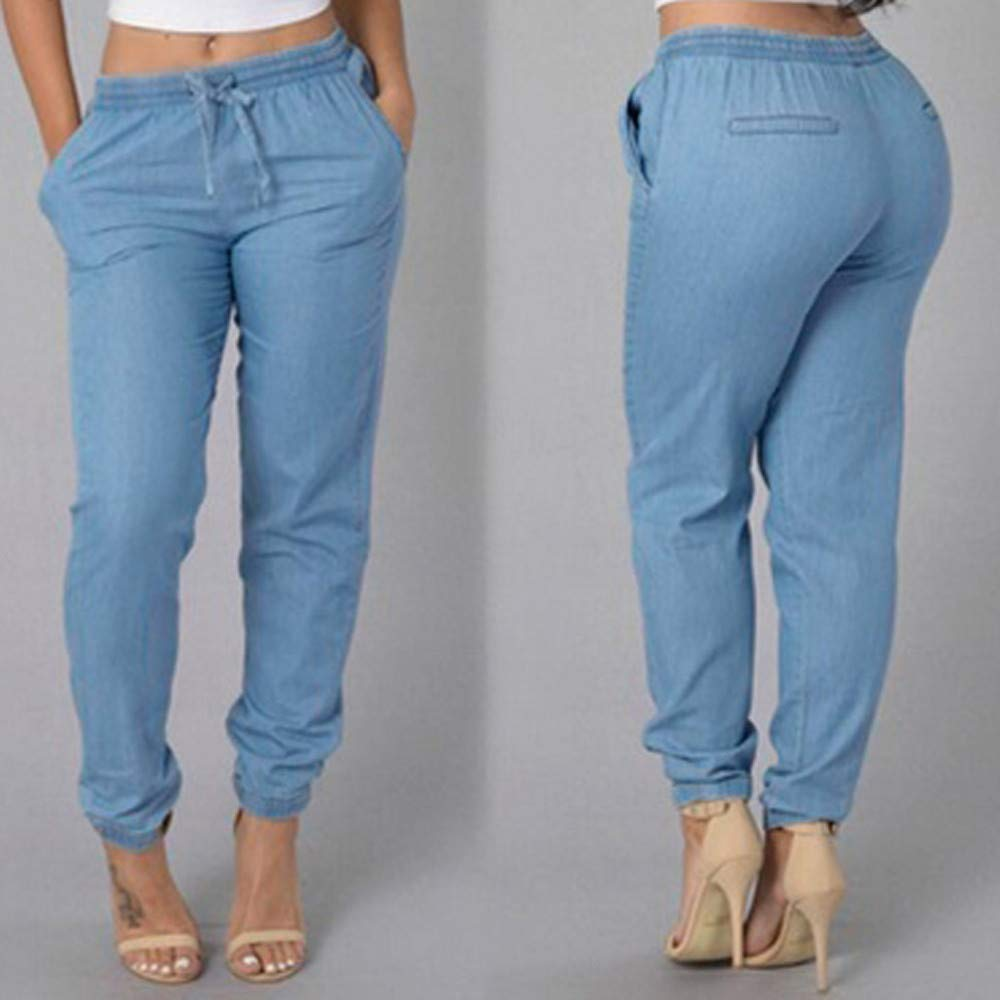 GzxtLTX Women Skinny Stretch High Waist Ripped Jeans Casual Pants